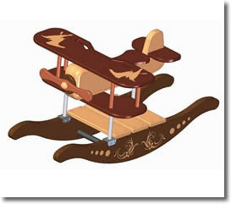 Product picture Rocking airplane kids toy plan